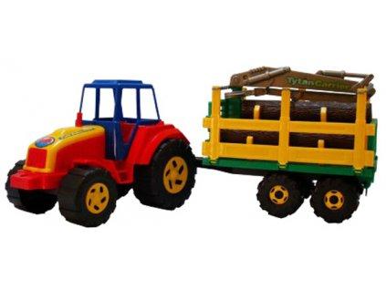 Plastový traktor Tytan s vyvážečkou a dřevem