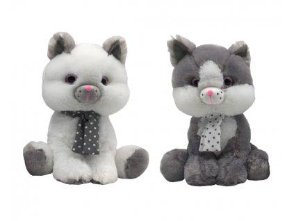 Plyšák Kočka - kolekce Silver 30 cm