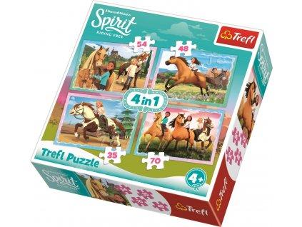 Puzzle Spirit, volnost nadevše 4v1 (35,48,54,70 dílků)