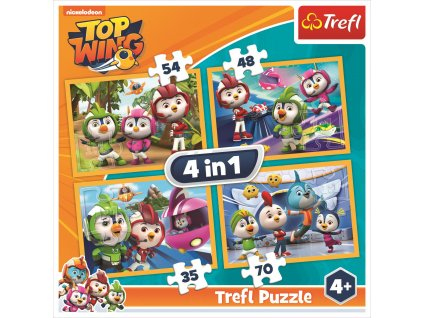 Puzzle Top Wing 4v1 (35,48,54,70 dílků)