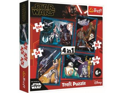Puzzle Star Wars Vzestup Skywalkera 4v1 (54,80,104,104 dílků)