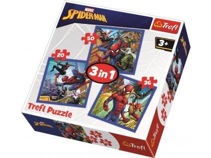 Puzzle Spiderman 3v1 (20,36,50 dílků)