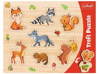 Vkládačka puzzle Lesní zvířátka 7 dílků