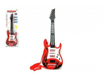 Plastová kytara na baterie se zvukem a světlem