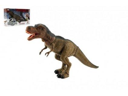 Chodící Dinosaurus tyranosaurus  na baterie se světlem a zvukem