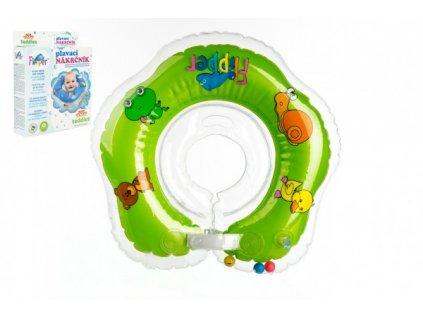 Plavací nákrčník Flipper/Kruh zelený