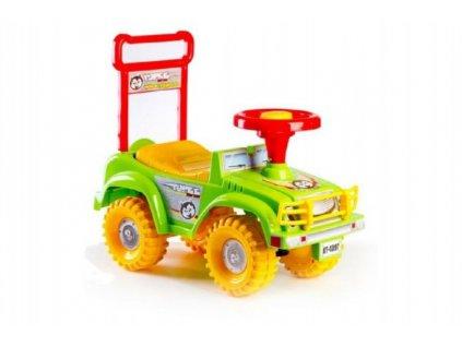Odrážedlo auto zelené