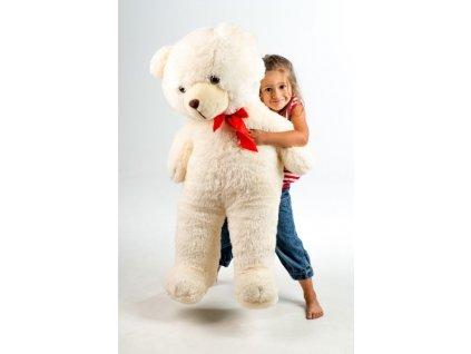 Velký plyšový medvěd 100cm s mašlí