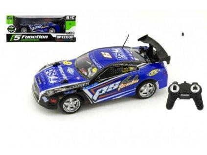 Auto RC zrychlující na baterie 27MHz modré