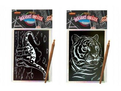 Škrabací obrázek hologram 8 druhů