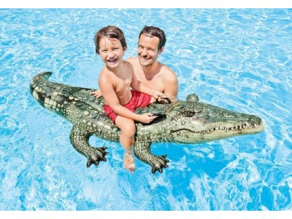 Lehátko Krokodýl nafukovací s úchyty
