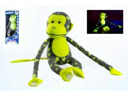 Opice svítící ve tmě šedá/žlutá