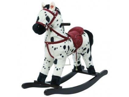 Kůň houpací bíločerný plyšový