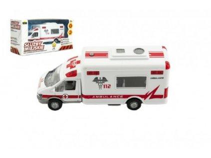 Auto ambulance městské služby na baterie se zvukem se světlem