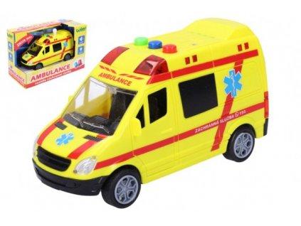 Auto ambulance záchranáři na baterie se světlem a zvukem