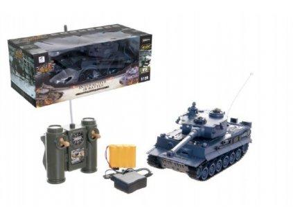 Tank RC TIGER I 40MHz na baterie+dobíjecí pack se zvukem a světlem