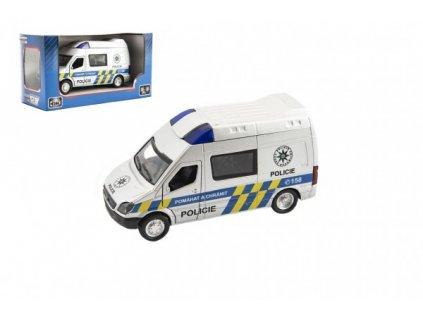 Auto policie na zpětné natažení na baterie se zvukem se světlem