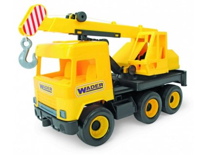 Auto middle Truck jeřáb žlutý Wader