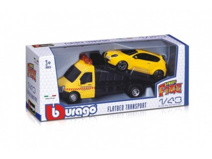Auto/kamion Bburago odtahovka + auto 1:43