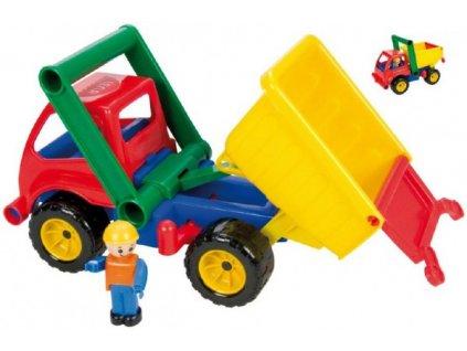 Auto sklápěč s figurkou aktivní