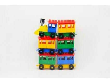 Stavebnice LORI 8 vlak + 5 vagónků