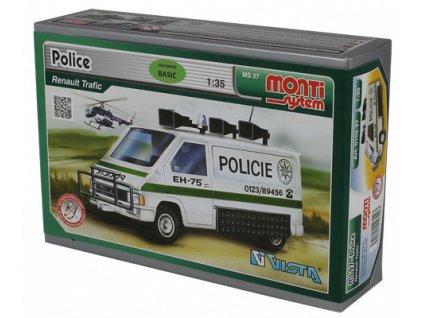 Stavebnice Monti 27 Policie Renault Trafic 1:35