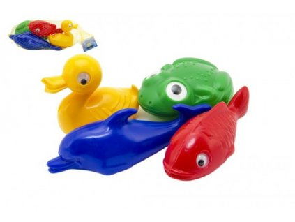 Plavací sada zvířátka do vany 4ks