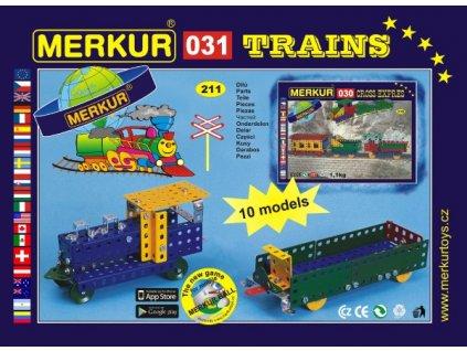 Stavebnice Merkur 031 Železniční modely 10 modelů