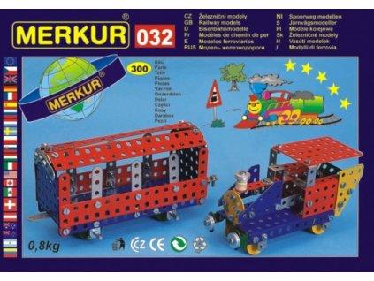 Stavebnice MERKUR 032 Železniční modely 10 modelů