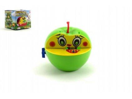 Pokladnička červené jablko s červíkem na klíček