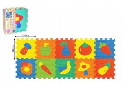 Pěnové puzzle Ovoce Zelenina 2 druhy 10ks