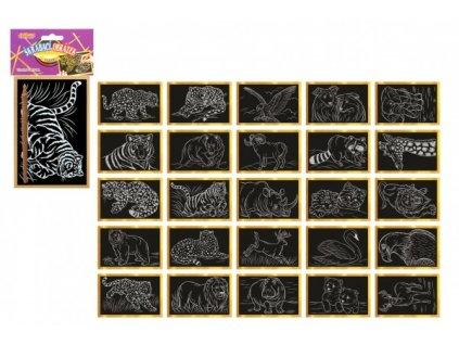 Škrabací obrázek zlatý 15x10cm