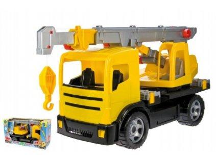 Autojeřáb 2-osý žlutý