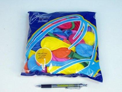 """Balonek/Balonky nafukovací 8"""" pastelové 100ks"""