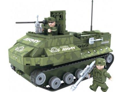 Stavebnice Dromader Vojáci Tank 22408 199ks