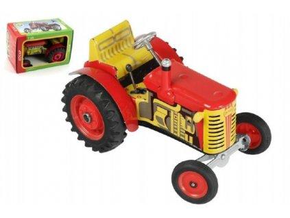 Traktor Zetor červený 1:25 na klíček