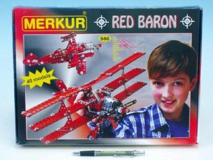 Stavebnice MERKUR Red Baron 40 modelů 680ks