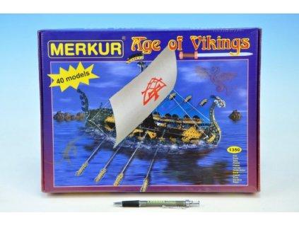 Stavebnice MERKUR Age of Vikings 40 modelů 1350ks