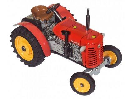 Traktor Zetor 25A červený 1:25 na klíček