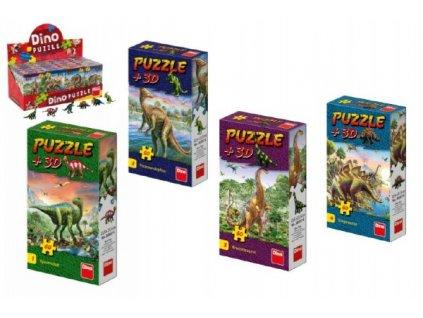 Puzzle Dinosauři 60 dílků + figurka 6 druhů