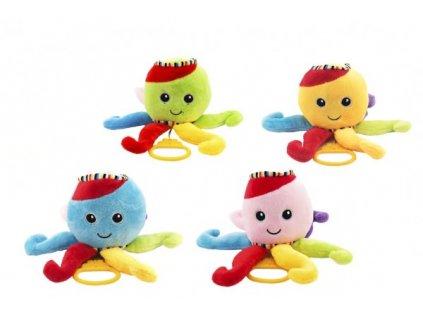 Chobotnice natahovací hrající strojek 4 barvy