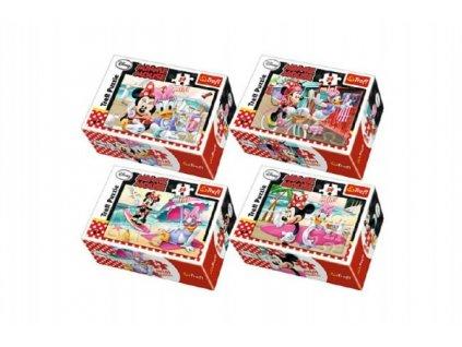 Minipuzzle Minnie & Daisy 54dílků 4 druhy