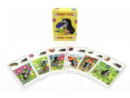 Černý Petr Krtek a sýkorka společenská hra - karty