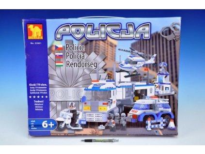 Stavebnice Dromader Policie Auto+Vrtulník+Stanice 23001 779ks