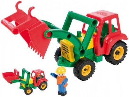 Auto traktor/nakladač s figurkou aktivní se lžící