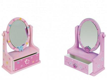 Zrcadlo šperkovnice zásuvka 3 barvy