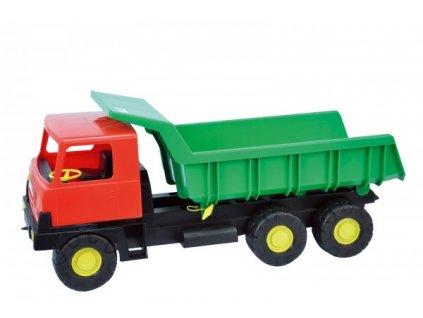 Auto Tatra 815 korba zelená kabina červená