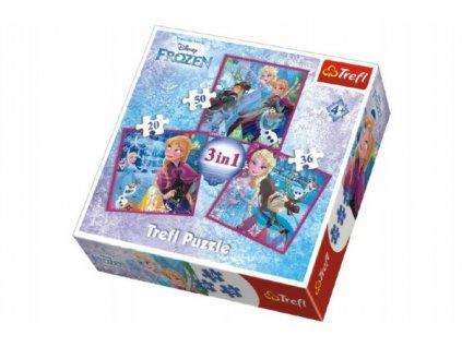 Puzzle 3v1 Frozen/Ledové Království