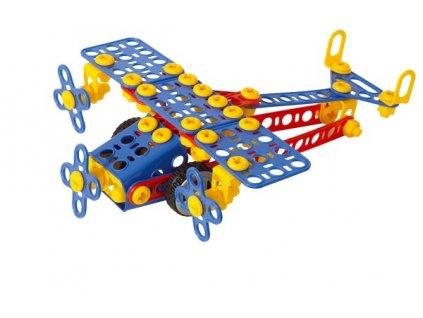 Mechanik Hugo staví Letadlo Seva stavebnice s nářadím