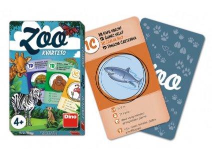 Kvarteto ZOO společenská hra karty 32ks